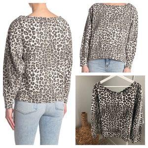GOOD AMERICAN Print Pullover Sweatershirt Size 4